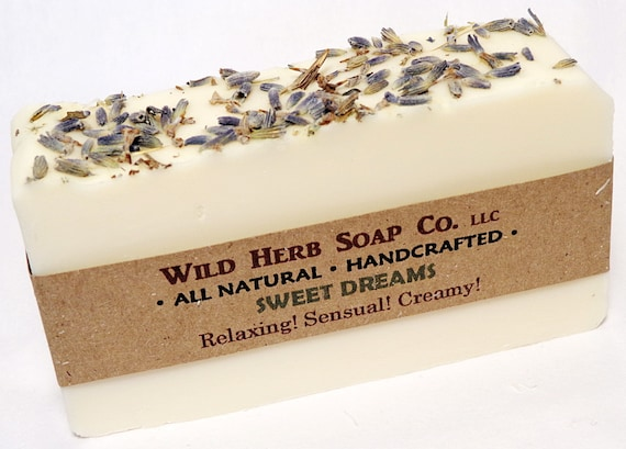 ALL NATURAL Soap, Sweet Dreams Scent - Made from Scratch (Cold Process) - by Wild Herb Soap Co. - Glycerin for Moisturizing