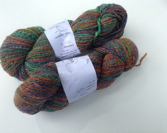 "Clearance - Handspun, sport, ""Calaveras"" two skeins, 7.3 oz total, 483 yds"