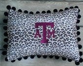Texas A&M Aggie Cheetah Pillow