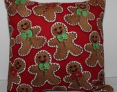 12x12 Gingerbread Accent Pillow