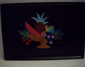 Large Fruit Bowl Couroc Tray