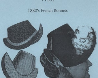 TV551 - Truly Victorian #551, 1870s-1880s French Bonnet Frame Sewing Pattern