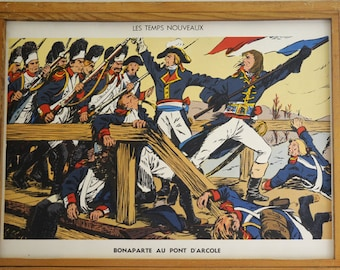 Original Vintage French School double-sided poster Napoleon