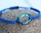 Bermuda Blue Swarovski Crystal Bracelet Birthday Gift Mother's Day