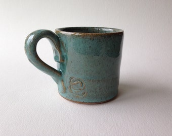 Turquoise Stoneware Cup #2