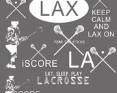 INSTANT DOWNLOAD : Lacrosse Word Art Brushes for Photoshop CS and Elements