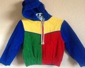 80's Primary Colors Corduroy Jacket
