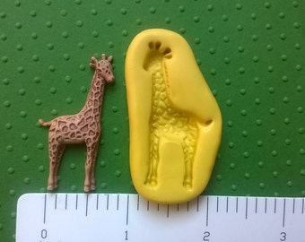 GIRAFFE mold flexible silicone mold for fondant resin polymer clay push mold wax zoo safari animal mold
