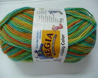 Regia 4-fadig color sock yarn 1800