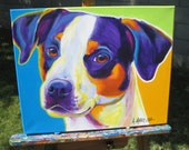 Beagle, Pet Portrait, DawgArt, Dog Art, Beagle Art, Original Painting, Pet Portrait Art, Colorful Dog Art, Beagle Painting