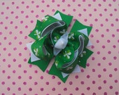 St. Patrick's Day Clover Boutique Bow