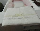 Cot Coverlet, baby blanket, silk felted coverlet