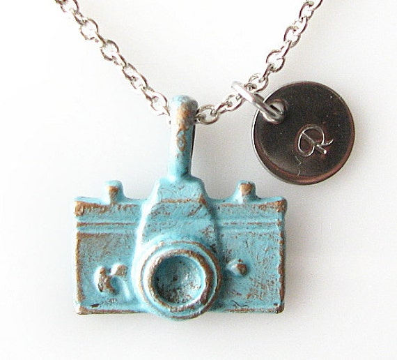 rustic camera necklace, personalized necklace, photographer gift, long necklace, photography necklace, travel traveling vacation jewelry