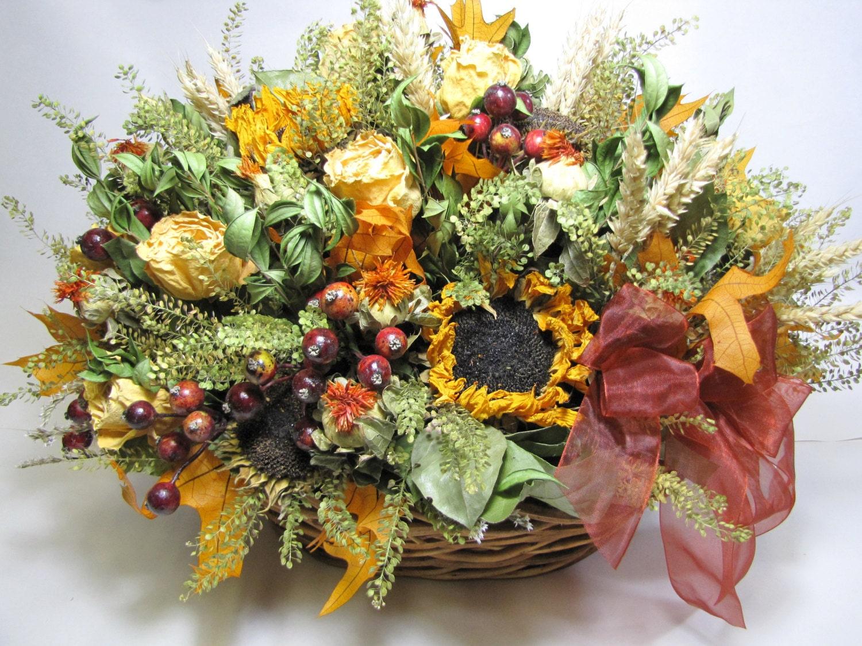 fall floral arrangement dried flower arrangement autumn. Black Bedroom Furniture Sets. Home Design Ideas