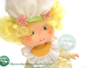 CLEARANCE Vintage 1980s Strawberry Shortcake Friend Lemon Meringue Doll