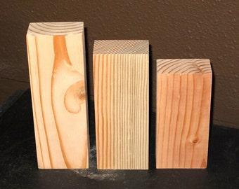 Unfinished wooden blocks bare blocks plain wood blocks for Plain wooden blocks for crafts