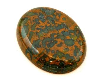 Conglomerate Jasper Oval Cabochon Stone (33mm x 25mm x 7mm)