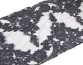 Black Corded Lace Scrap Bag 200cms