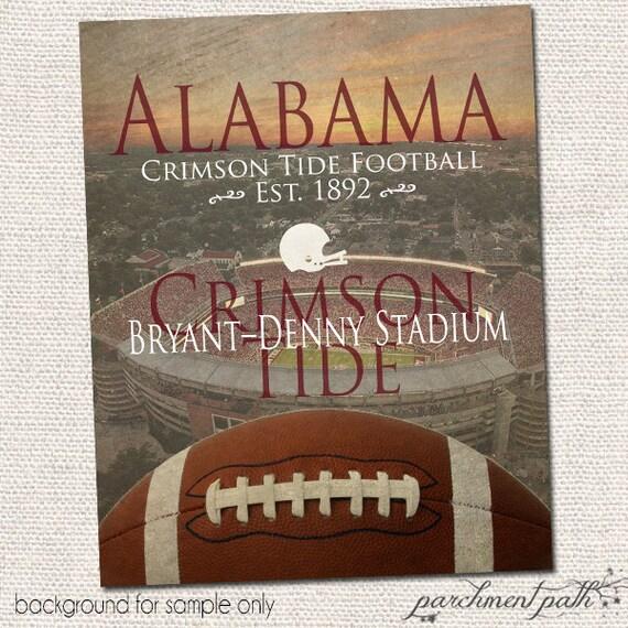 Items similar to alabama crimson tide football wall art for Alabama football wall mural