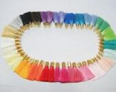 156 Pieces Short Silk Tassel with Gold Brass Cap, Mini Tassel, Colorful Tassel, Wholesale Tassel, tassel earring, Jewelry making silk tassel