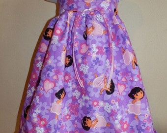 Boutique DORA THE EXPLORER Dress Girl 6m 9m 12m 18m 24m 2t 3t 4t - SarahsRainbow