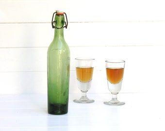 1920 French antique beer bottles  - Picnic - brewery