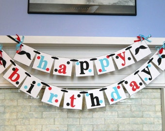 Mustache 1st Birthday Decorations - Mustache Bash Decorations - 1st Birthday Garland - first Birthday Decorations - You Pick the Colors