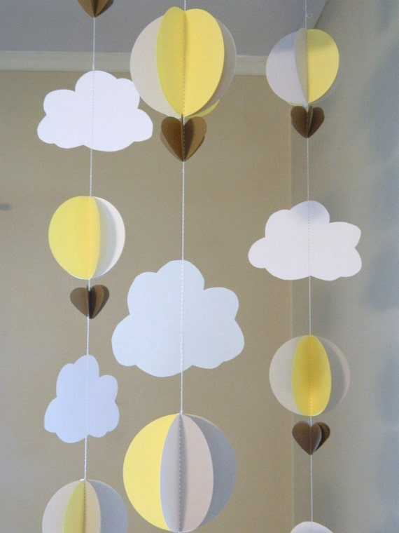 Up up and away Baby Shower Decor / Hot air by anyoccasionbanners
