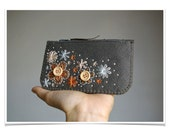 Mother's Day Sale ø Felt Purse Wallet ø Hand Embroidered ø Sweet Blossoms ø LoftFullOfGoodies ø Mother's Day Gift