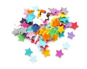 Felt stars wedding confetti and craft shapes Die cut felt shapes size 1.9cm