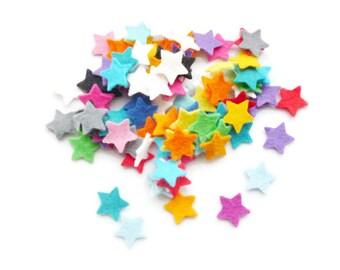 Felt stars wedding confetti and craft shapes Die cut felt shapes size 1.9cm
