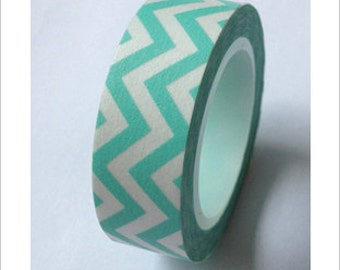 SALE Washi Tape Chevron Mint Washi Tape 11 yards 10 meters 15mm Chevron Washi Tape Mint Washi Tape Pastel Mint Light Green