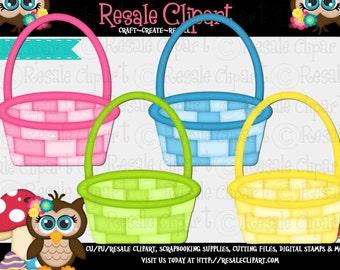 Easter Baskets 1 Clipart (Digital Download)