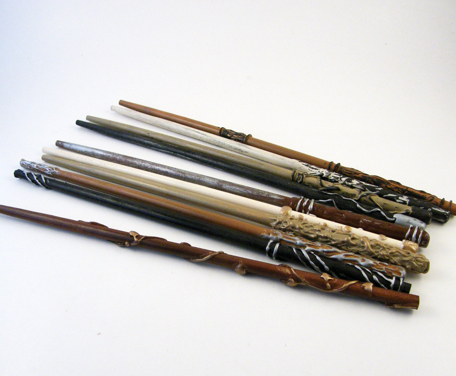 Magic wand wizard wand party favor natural series packages for Static wand
