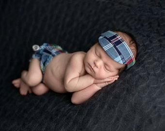 Newborn Visor with matching Diaper Cover Boy Photo Prop