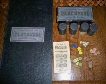 Vintage 3rd Edition 1918 Parcheesi Board Game - Selchow & Righter Co. Publishing