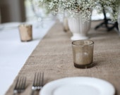 Simple and Chic Hemmed Burlap Table Runner Rustic Home Decor Custom Sizes Available Burlap Wedding Table Runners