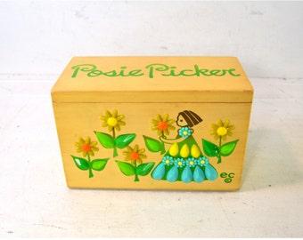 Vintage Original Enid Collins Of Texas Box Purse // Vintage Wood Handbag //  Posie Picker