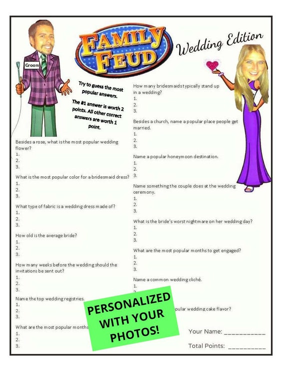 family feud gamewedding shower by 31flavorsofdesign on etsy
