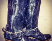 The Tabitha Vintage Tall Distressed Boots with Rope and Chain Belts