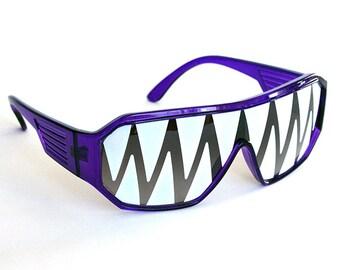 Rasslor Purple Shark Teeth Party Sunglasses