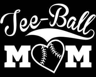Tee-Ball Mom Vinyl Decal Sticker