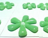 Glass Flowers For Mosaics, Jewelry, Magnets or other Embellishments 6 Flowers  (P207)