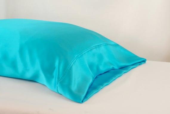 100 Silk Pillowcase Teal Standard Or King Size Charmeuse
