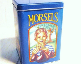 VINTAGE METAL BOX with no cookies in it - Storage Box - Canister - Can -