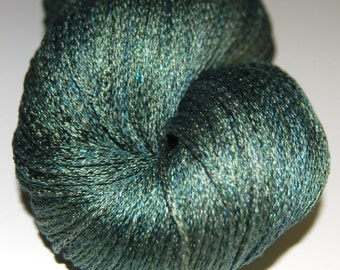 olive drab- Mulberry silk 100%б handdyed yarn 100g