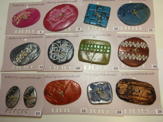 Special Order 12 regular price Buttons 3 Clearance Buttons