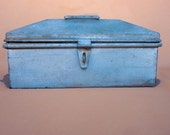 Antique 1920s Cemetary Grounds Keeper Tool Box - Unusual Coffin Shape