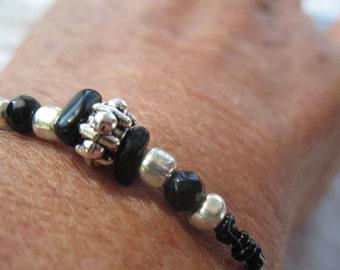 Onyx an black crystal bracelet