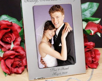 Engraved Today, Tomorrow & Always Wedding Silver Picture Frame -gfy8527380